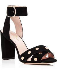 Kate Spade New York Oakwood Studded High Block Heel Sandals