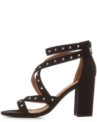 Charlotte Russe Qupid Studded Crisscross Dress Sandals