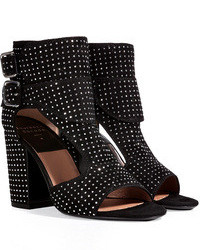 Laurence Dacade Studded Suede Open Toe Sandals