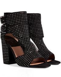 Laurence Dacade Studded Suede Open Toe Sandals