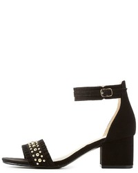 Charlotte Russe Studded Two Piece Sandals