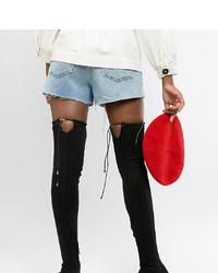 Asos Tall Asos Design Tall Kaska Flat Studded Thigh High Boots