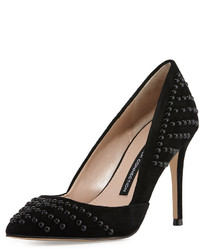 French Connection Elmyra Studded Dorsay Pump Black
