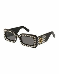 Gucci Chunky Studded Square Sunglasses Black