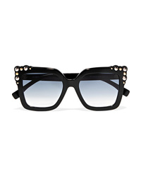 Fendi Studded Square Frame Acetate Sunglasses