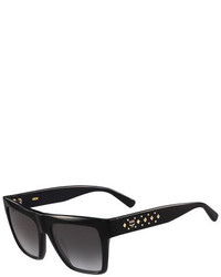 MCM Studded Square Plastic Sunglasses Black