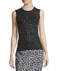 Michael Kors Michl Kors Collection Studded Knit Shell Tank