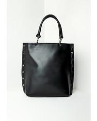 Missguided Black Studded Edge Tote Bag