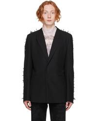 Givenchy Black Wool Studs Blazer