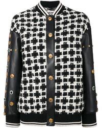 Fausto Puglisi Studded Sleeve Bomber Jacket