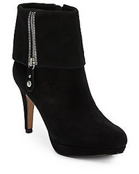 Adrienne Vittadini Poppers Suede Platform Ankle Boots