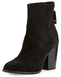 Rag & Bone Ashby Suede Ankle Boot Black