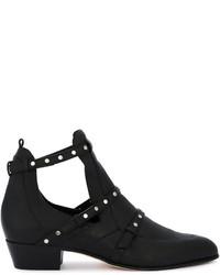 Black harley leather boots medium 4155464