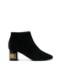 Moschino Logo Heel Boots