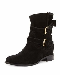 Kate Spade New York Sabina Suede Buckle Bootie Black