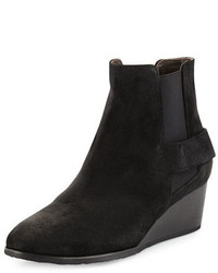 Coclico Oddly Suede Wedge Bootie Hammer Black