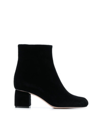 RED Valentino Red Block Heel Ankle Boots