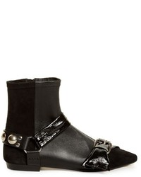 Isabel Marant Reida Leather And Suede Ankle Boots