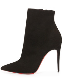 12043485f2f Christian Louboutin So Kate Booty Suede Red Sole Ankle Boot Black ...