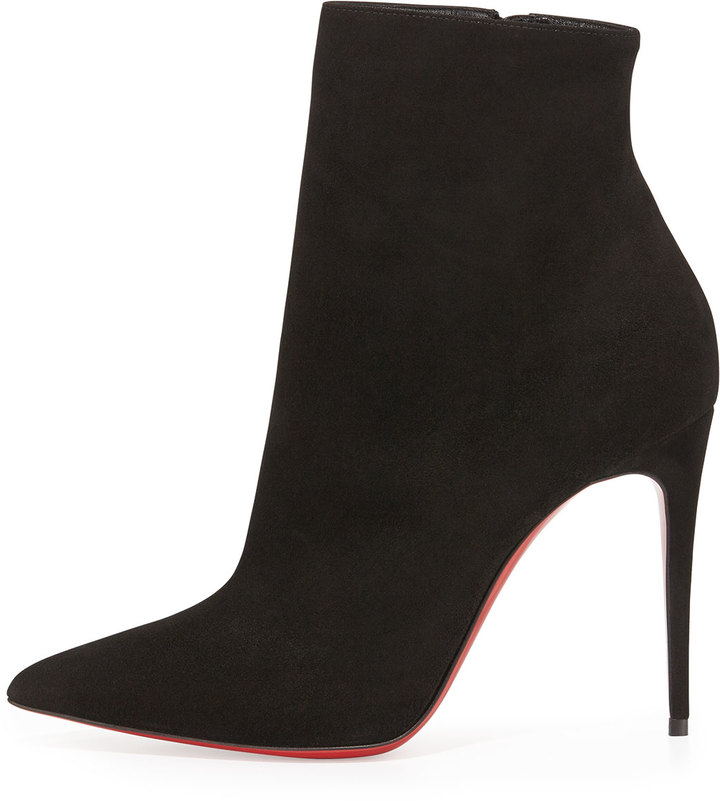 de4f3b46be3 So Kate Booty Suede Red Sole Ankle Boot Black