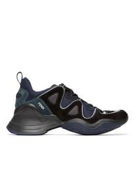 Fendi Black Ffluid Sneakers