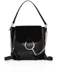 Chloé Chloe Small Faye Leather Suede Mini Backpack