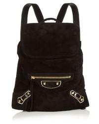 Balenciaga Classic Traveller Suede Backpack