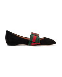 Gucci Ed Suede Point Toe Flats