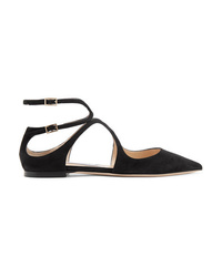 Jimmy Choo Lancer Suede Point Toe Flats