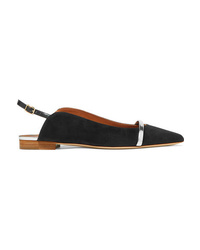 Malone Souliers Marion Med Suede Slingback Point Toe Flats