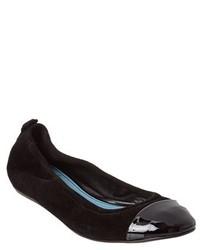 Lanvin Suede Cap Toe Ballerina Flat