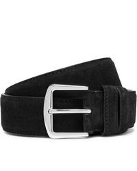 Loro Piana 35cm Black Suede Belt