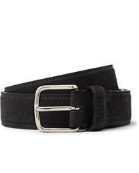 The Row 3cm Black Suede Belt