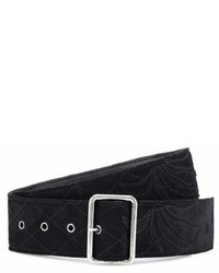 Saint Laurent Embroidered Suede Belt