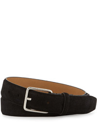 Cole Haan Suede Belt Black