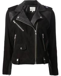 Black Suede Biker Jacket