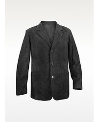 Moreschi Black Suede Blazer Jacket