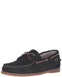 Black Suede Boat Shoes