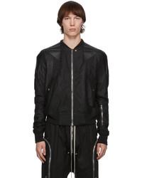 Rick Owens Black Leather Flight Jacket