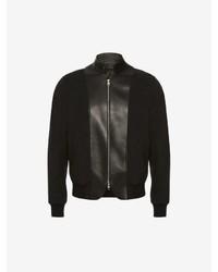 Alexander McQueen Leather Bib Bomber Jacket