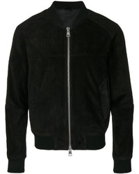 Suede leather zipped jacket with raglan sleeves medium 4355268
