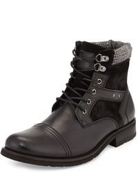Joe's Jeans Adams Contrast Trim Lace Up Boot Black