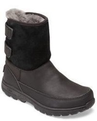 UGG Kids Tamarind Leather Suede Pure Boots
