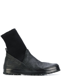 knitted cuff grained boots - Black Mars��ll 70eqB5sn