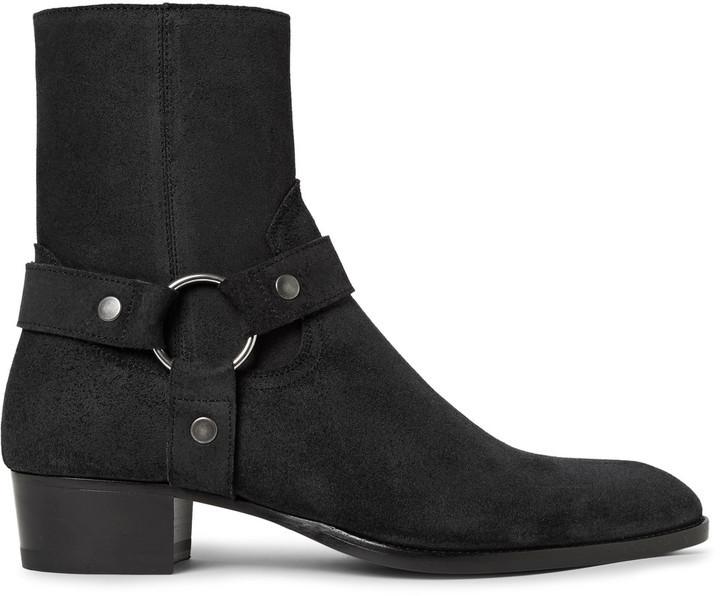 Wyatt Suede Harness Boots Saint Laurent Cheap Footaction x9Iq7T5J