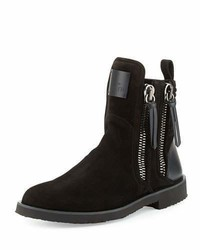X zayn suede double zip ankle boot neroblack medium 1246390