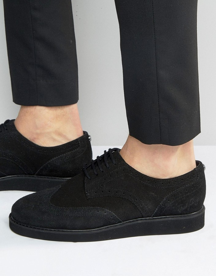 Fred Perry Newburgh Brogue Suede Shoes