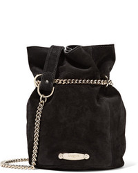 Aumoniere mini suede bucket bag black medium 818946