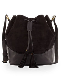 Frye Paige Drawstring Bucket Bag Black