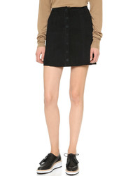 Paige Denim Cassia Suede Skirt